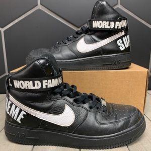 Nike x Supreme Air Force 1 High Black Size 10.5